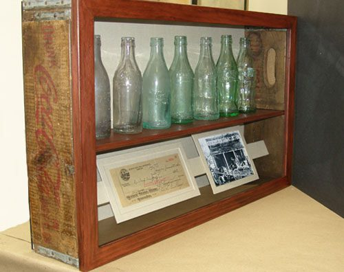 Coca-Cola custom Shadowbox frame