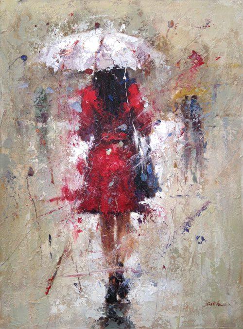 Seth Untitled (Woman in Rain)