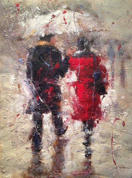 Seth Untitled (Couple in Rain)