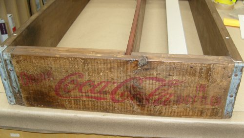 vintage Coke crate custom framing birmingham