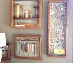 antique thread spools
