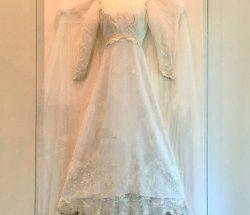 framed wedding dress shadowbox